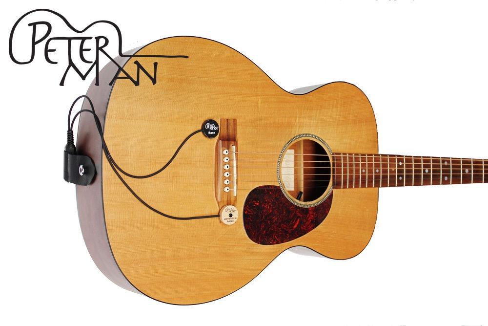 acoustic tuneable dual guitar piezo pickup by peterman au ebay. Black Bedroom Furniture Sets. Home Design Ideas
