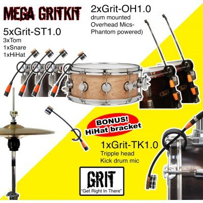 GRIT - Drum Kit - MEGA - microphones (8)